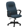 Gamut Executive High-Back Chair | Center-Tilt | Fixed Arms | Cerulean Fabric