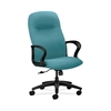 HON Gamut Executive High-Back Chair | Center-Tilt | Fixed Arms | Glacier Fabric