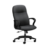 HON Gamut Executive High-Back Chair | Center-Tilt | Fixed Arms | Onyx Fabric