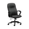 HON Gamut Executive High-Back Chair | Center-Tilt | Fixed Arms | Onyx Fabric