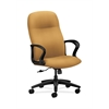 HON Gamut Executive High-Back Chair | Center-Tilt | Fixed Arms | Mustard Fabric