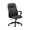 HON Gamut Executive High-Back Chair | Center-Tilt | Fixed Arms | Charcoal Fabric