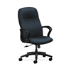 HON Gamut Executive High-Back Chair | Center-Tilt | Fixed Arms | Navy Fabric
