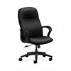 HON Gamut Executive High-Back Chair | Center-Tilt | Fixed Arms | Black Fabric