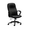 HON Gamut Executive High-Back Chair | Center-Tilt | Fixed Arms | Black Fabric