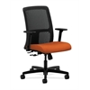 HON Ignition Low-Back Mesh Task Chair | Center-Tilt | Adjustable Arms | Tangerine Fabric