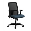 HON Ignition Low-Back Mesh Task Chair | Center-Tilt | Adjustable Arms | Cerulean Fabric