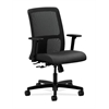 HON Ignition Low-Back Mesh Task Chair | Center-Tilt | Adjustable Arms | Onyx Fabric