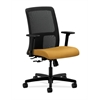 HON Ignition Low-Back Mesh Task Chair | Center-Tilt | Adjustable Arms | Mustard Fabric