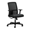 HON Ignition Low-Back Mesh Task Chair | Center-Tilt | Adjustable Arms | Charcoal Fabric