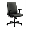 HON Ignition Low-Back Task Chair | Center-Tilt | Adjustable Arms | Gray Fabric