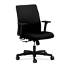 HON Ignition Low-Back Task Chair | Center-Tilt | Fixed Arms | Black Fabric