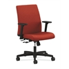 Ignition Low-Back Task Chair | Center-Tilt | Adjustable Arms | Poppy Fabric