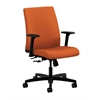 HON Ignition Low-Back Task Chair | Center-Tilt | Adjustable Arms | Tangerine Fabric