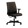 HON Ignition Low-Back Task Chair | Center-Tilt | Adjustable Arms | Espresso Fabric