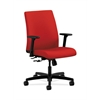 HON Ignition Low-Back Task Chair | Center-Tilt | Adjustable Arms | Tomato Fabric
