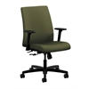 HON Ignition Low-Back Task Chair | Center-Tilt | Adjustable Arms | Olivine Fabric