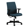 HON Ignition Low-Back Task Chair | Center-Tilt | Adjustable Arms | Cerulean Fabric