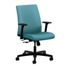 HON Ignition Low-Back Task Chair | Center-Tilt | Adjustable Arms | Glacier Fabric