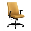 HON Ignition Low-Back Task Chair | Center-Tilt | Adjustable Arms | Mustard Fabric