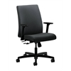 HON Ignition Low-Back Task Chair | Center-Tilt | Adjustable Arms | Charcoal Fabric