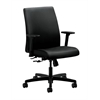 HON Ignition Low-Back Task Chair | Center-Tilt | Adjustable Arms | Black Fabric