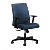 HON Ignition Low-Back Task Chair | Center-Tilt | Adjustable Arms | Ocean Fabric