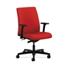 HON Ignition Low-Back Task Chair | Synchro-Tilt | Adjustable Arms | Tomato Fabric