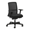 HON Ignition Low-Back Mesh Task Chair | Synchro-Tilt, Back Angle | Adjustable Arms | Black Fabric