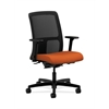 HON Ignition Low-Back Mesh Task Chair | Synchro-Tilt, Back Angle | Adjustable Arms | Tangerine Fabric