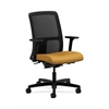 HON Ignition Low-Back Mesh Task Chair | Synchro-Tilt, Back Angle | Adjustable Arms | Mustard Fabric