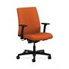 HON Ignition Low-Back Task Chair | Synchro-Tilt, Back Angle | Adjustable Arms | Tangerine Fabric