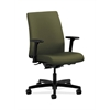 HON Ignition Low-Back Task Chair | Synchro-Tilt, Back Angle | Adjustable Arms | Olivine Fabric