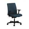 HON Ignition Low-Back Task Chair | Synchro-Tilt, Back Angle | Adjustable Arms | Cerulean Fabric