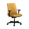 HON Ignition Low-Back Task Chair | Synchro-Tilt, Back Angle | Adjustable Arms | Mustard Fabric