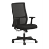 HON Ignition Mid-Back Mesh Task Chair | Center-Tilt | Adjustable Arms | Black Fabric