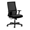 HON Ignition Mid-Back Mesh Task Chair | Center-Tilt | Adjustable Arms | Black Fabric