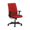 HON Ignition Mid-Back Task Chair | Center-Tilt | Adjustable Arms | Tomato Fabric