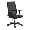 Ignition Mid-Back Mesh Task Chair | Synchro-Tilt | Adjustable Arms | Black Fabric
