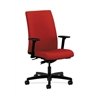 HON Ignition Mid-Back Task Chair | Synchro-Tilt | Adjustable Arms | Tomato Fabric