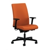 HON Ignition Mid-Back Task Chair | Synchro-Tilt, Back Angle | Adjustable Arms | Tangerine Fabric
