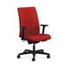 HON Ignition Mid-Back Task Chair | Synchro-Tilt, Back Angle | Adjustable Arms | Tomato Fabric