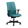 HON Ignition Mid-Back Task Chair | Synchro-Tilt, Back Angle | Adjustable Arms | Glacier Fabric