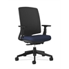 Lota Mesh Back Chair | Weight-Activated Tilt | Adjustable Arms | Navy Fabric