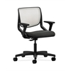 HON Motivate Task Chair | Fog ilira-Stretch Back | Adjustable Arms | Gray Fabric