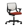 HON Motivate Task Chair | Fog ilira-Stretch Back | Adjustable Arms | Poppy Fabric