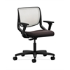 HON Motivate Task Chair | Fog ilira-Stretch Back | Adjustable Arms | Espresso Fabric