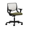 HON Motivate Task Chair | Fog ilira-Stretch Back | Adjustable Arms | Olivine Fabric