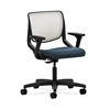 HON Motivate Task Chair | Fog ilira-Stretch Back | Adjustable Arms | Cerulean Fabric