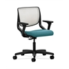 HON Motivate Task Chair | Fog ilira-Stretch Back | Adjustable Arms | Glacier Fabric